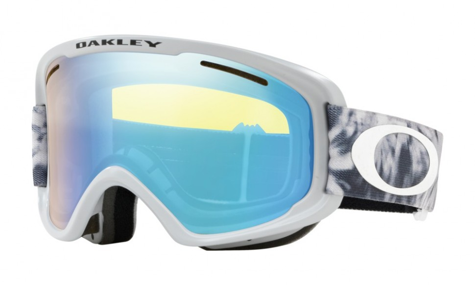 Маска горнолыжная OAKLEY O Frame 2.0 Xm TRANQUIL FLURRY SHARKSKIN/HI YELLOW IRIDIUM фото