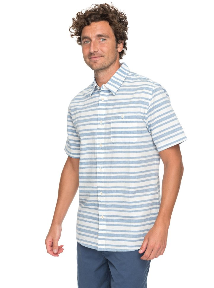 Купить со скидкой Рубашка мужская QUIKSILVER Flyingfirst M Deep Water Flying First