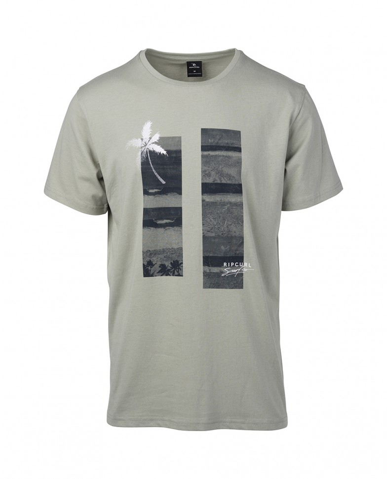 Футболка RIP CURL Sea Scene Ss Tee Light Green  фото