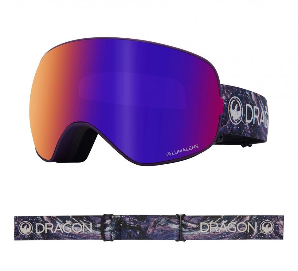 Маска горнолыжная DRAGON X2S Lavender/Ll Purple Ion + Ll Amber фото
