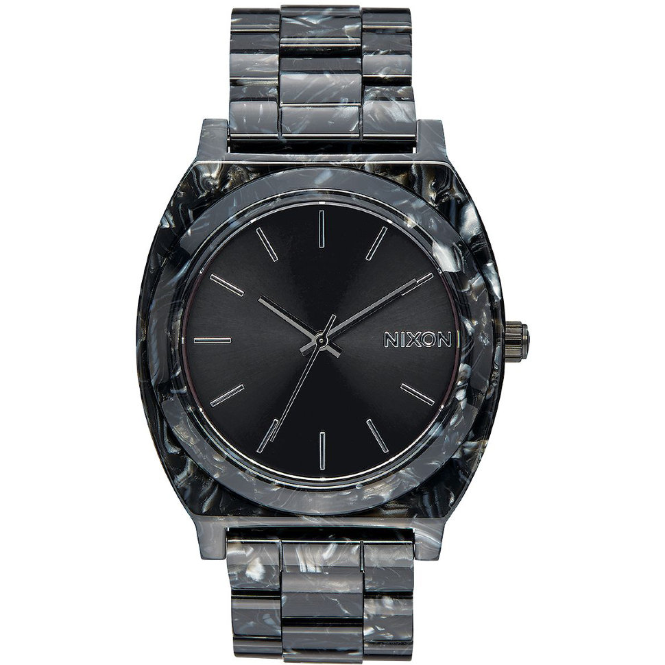 Часы NIXON Time Teller Acetate A/S Black/Silver/Multi