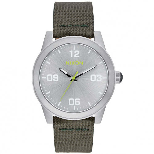 Часы NIXON G.I. Nylon A/S Silver/Surplus