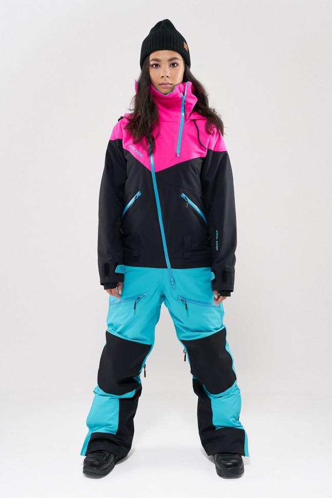 Купить со скидкой Комбинезон для сноуборда женский COOL ZONE Kite Цикламеновый/Черный/Бирюзовый