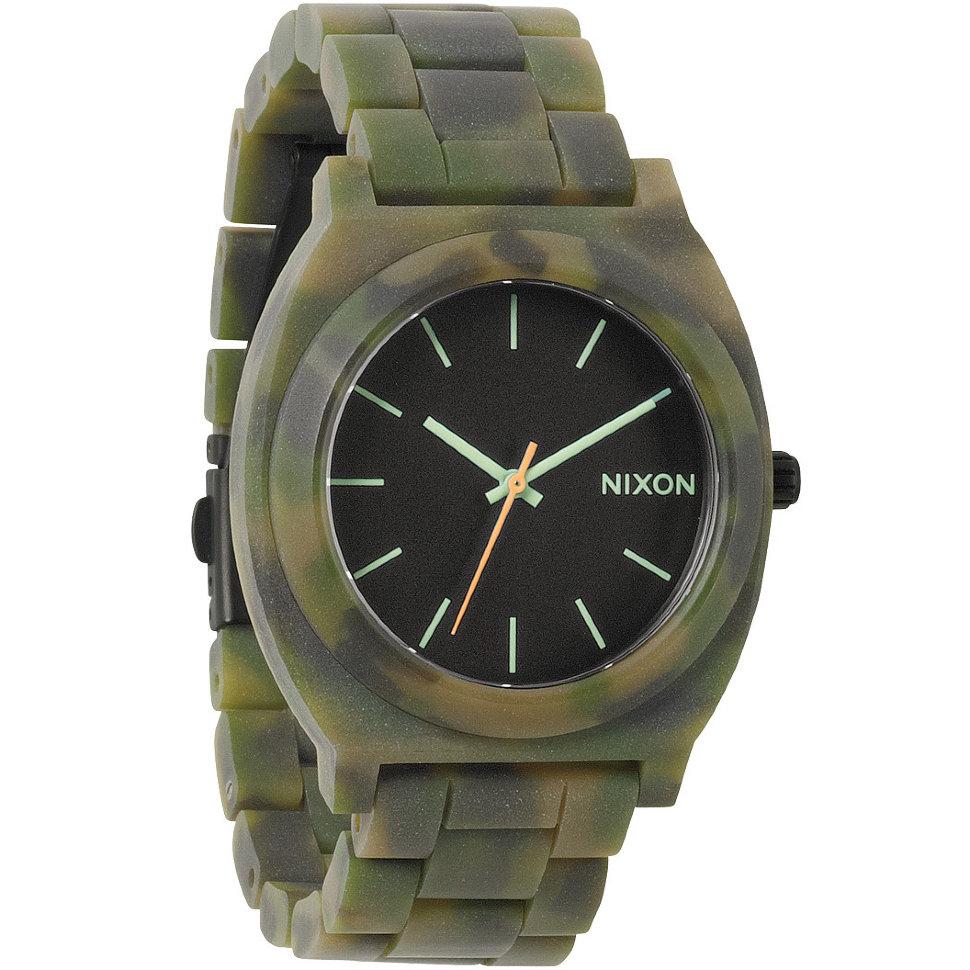 Часы NIXON Time Teller Acetate A/S Matte Black/Camo