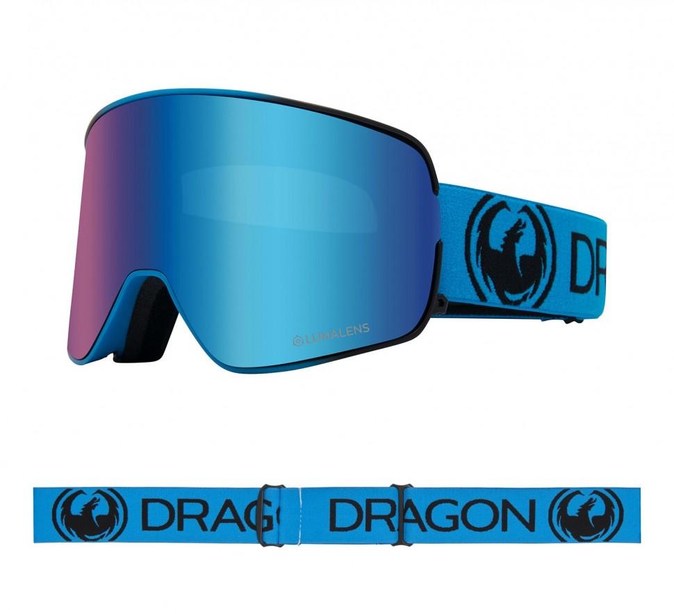 Маска горнолыжная DRAGON Nfx2 Blueberry/Ll Blue Ion + Ll Amber фото