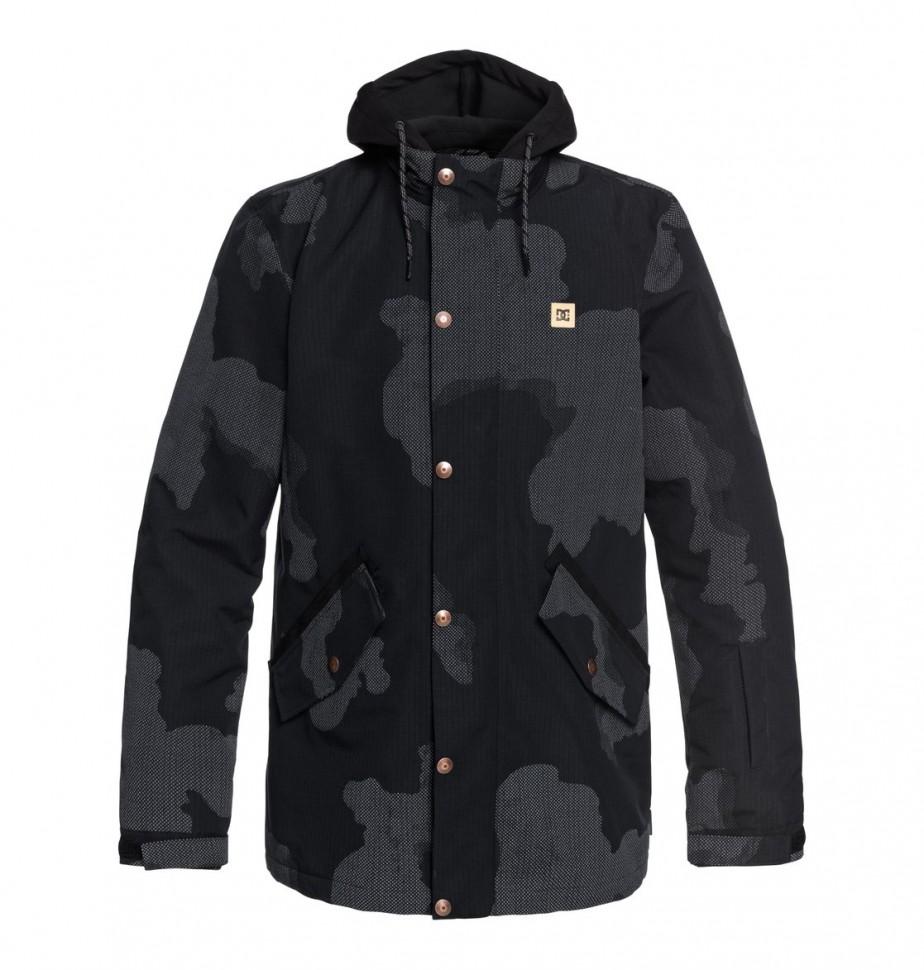 Купить со скидкой Куртка для сноуборда мужская DC SHOES Union Se Jkt M Black Dcu Reflective Camo Men