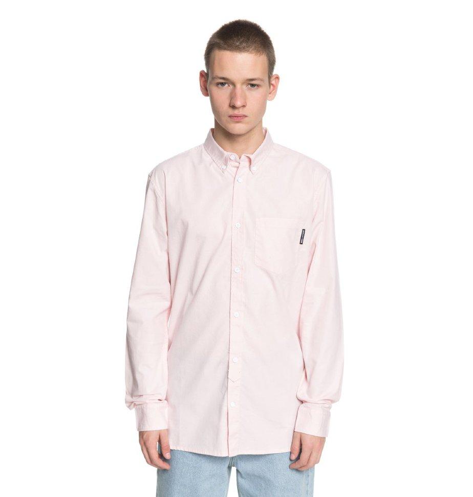 Купить со скидкой Рубашка мужская DC SHOES Classic Oxford M English Rose