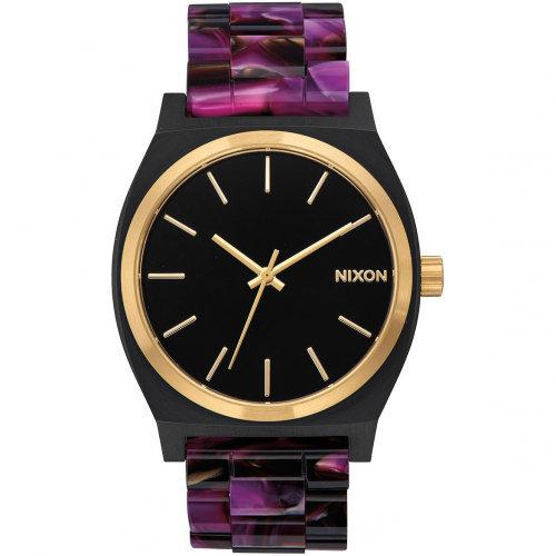 Часы NIXON Time Teller Acetate A/S Multi/Black/Gold